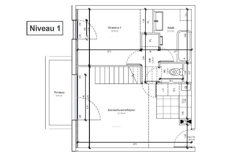 Sale apartment Massy 349300€ - Picture 2