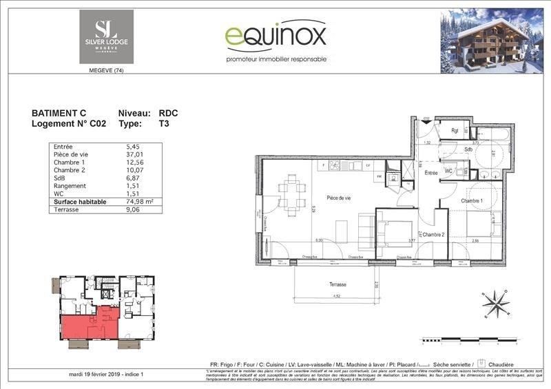 Vente appartement Megeve 542000€ - Photo 3