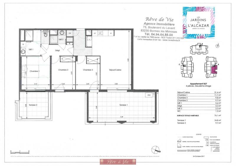 Deluxe sale apartment Bormes les mimosas 405000€ - Picture 2