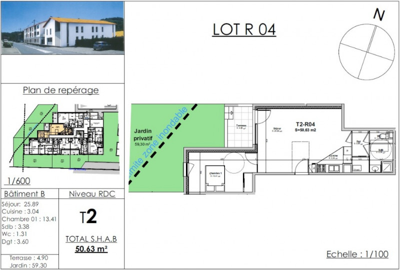 Vente appartement Nivolas vermelle 148228€ - Photo 2