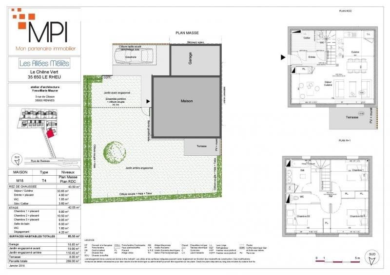 Sale house / villa Le rheu 278400€ - Picture 5