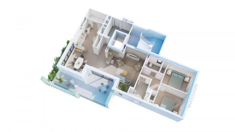 Appartement de type F3 avec terrasse, garage et place de par