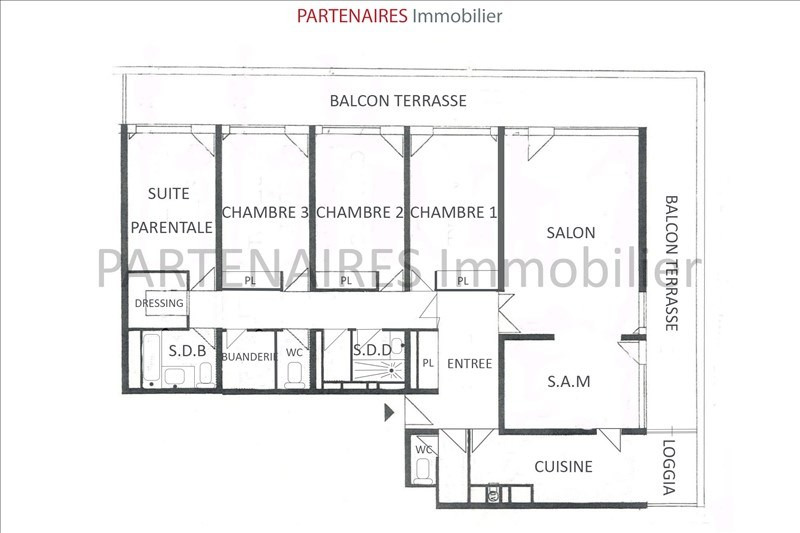 Sale apartment Le chesnay 741 000€ - Picture 5