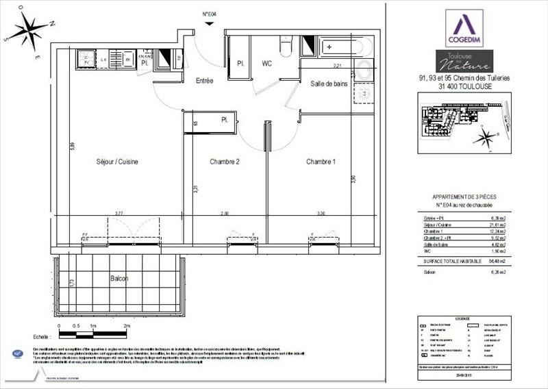 Rental apartment Toulouse 666€ CC - Picture 3