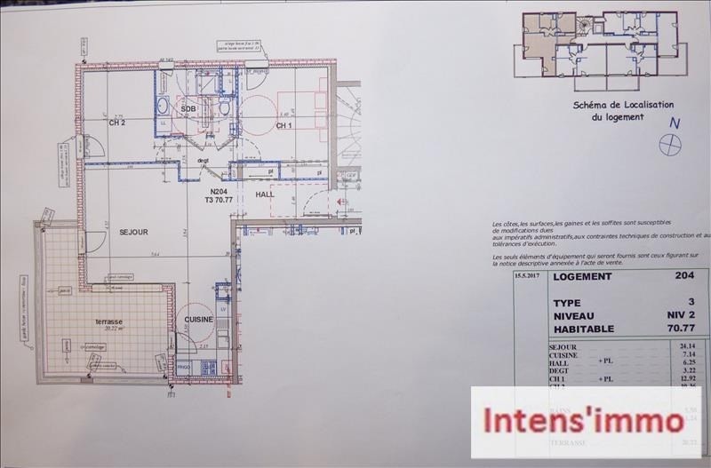 Sale apartment Pizancon 190000€ - Picture 3