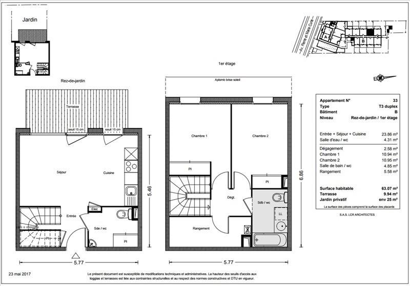 Vente appartement Toulouse 259900€ - Photo 5