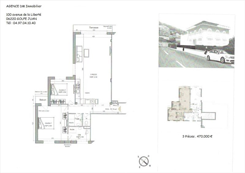 Investment property apartment Nice 450000€ - Picture 2