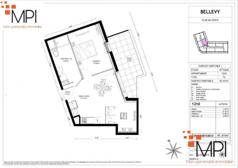 Sale apartment Vezin le coquet 145000€ - Picture 3