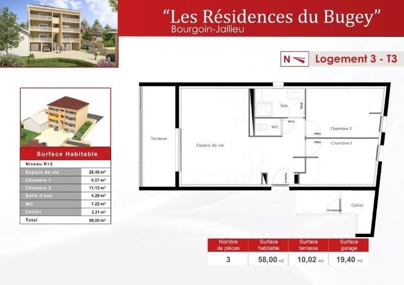 Vente appartement Bourgoin jallieu 189000€ - Photo 3
