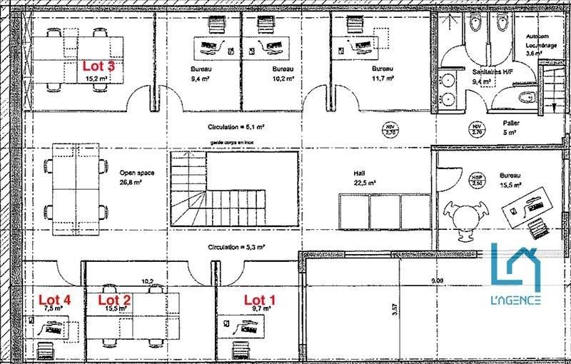 Rental office Boulogne billancourt 1800€ HT/HC - Picture 6