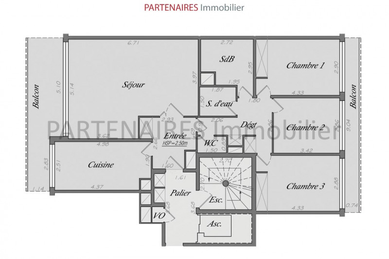 Vente appartement Le chesnay 629 700€ - Photo 7