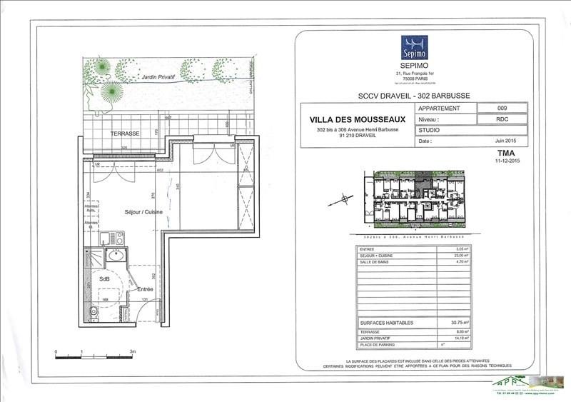 Rental apartment Draveil 656€ CC - Picture 2