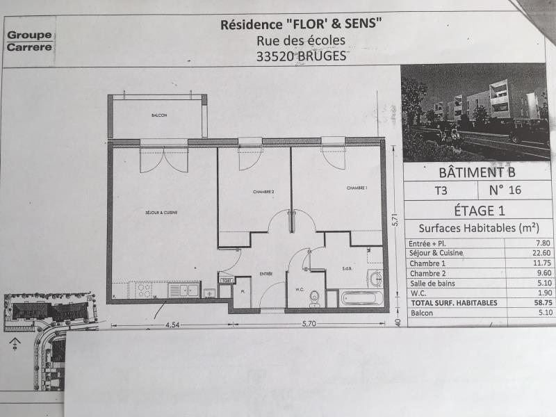 Rental apartment Bruges 696€ CC - Picture 1