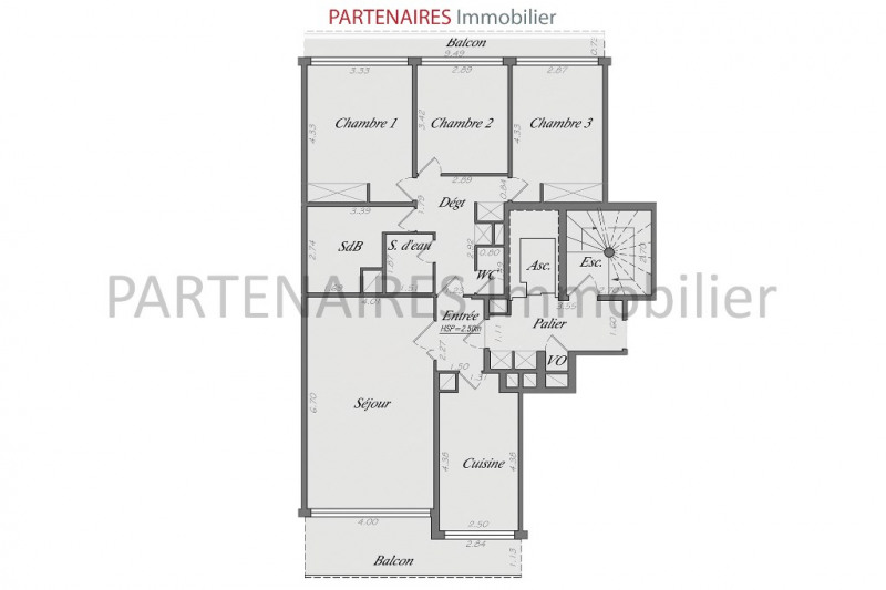 Vente appartement Le chesnay 548000€ - Photo 4