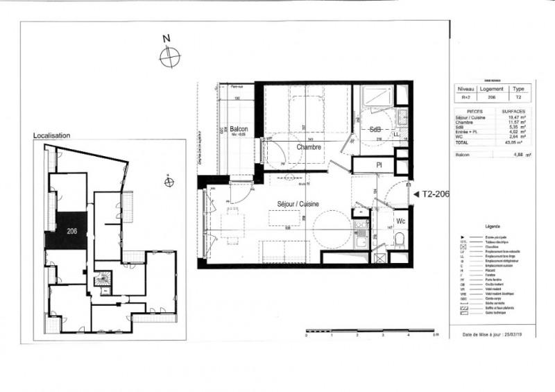 Venta  apartamento Rennes 204000€ - Fotografía 3