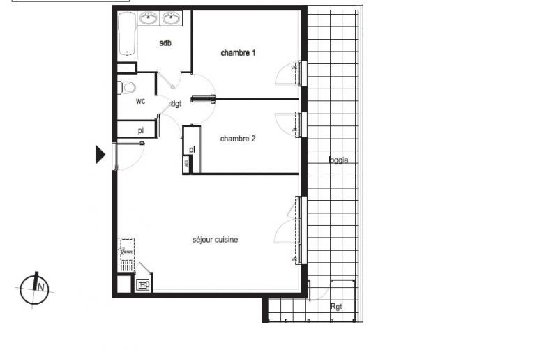 Sale apartment Montpellier 254000€ - Picture 3