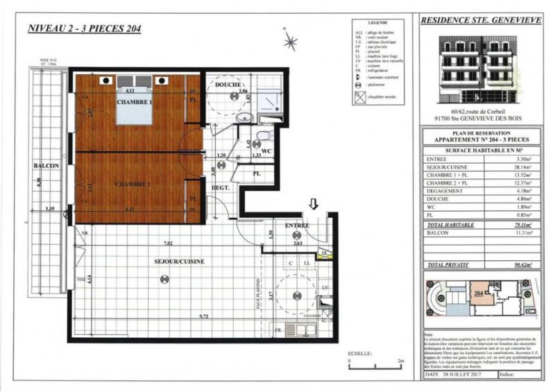 Vente appartement Sainte genevieve des bois 273000€ - Photo 4