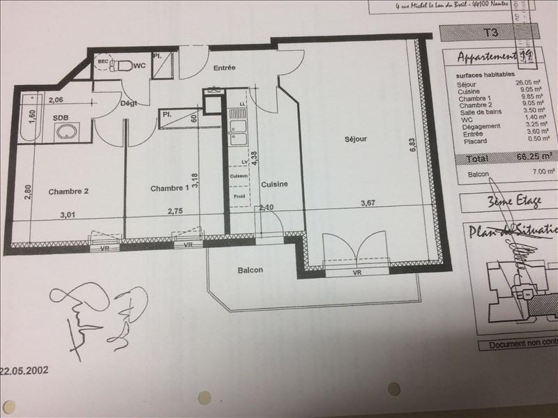 Sale apartment Nantes 213000€ - Picture 2