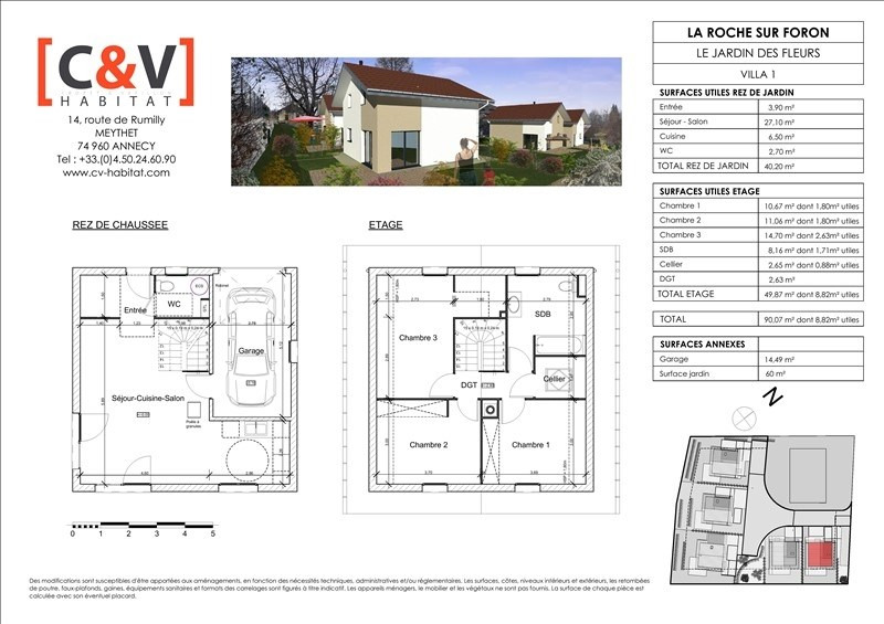 Sale house / villa La roche sur foron 299900€ - Picture 6