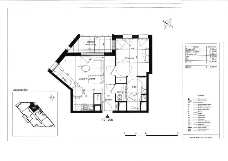 Venta  apartamento Tours 160000€ - Fotografía 5