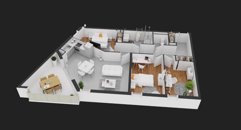 Deluxe sale apartment Balaruc les bains 314800€ - Picture 1