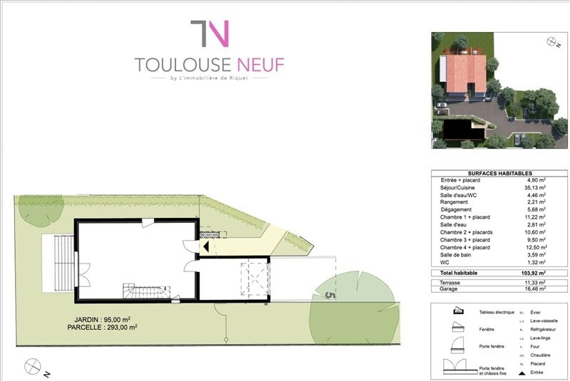 Vente maison / villa Tournefeuille 313900€ - Photo 2