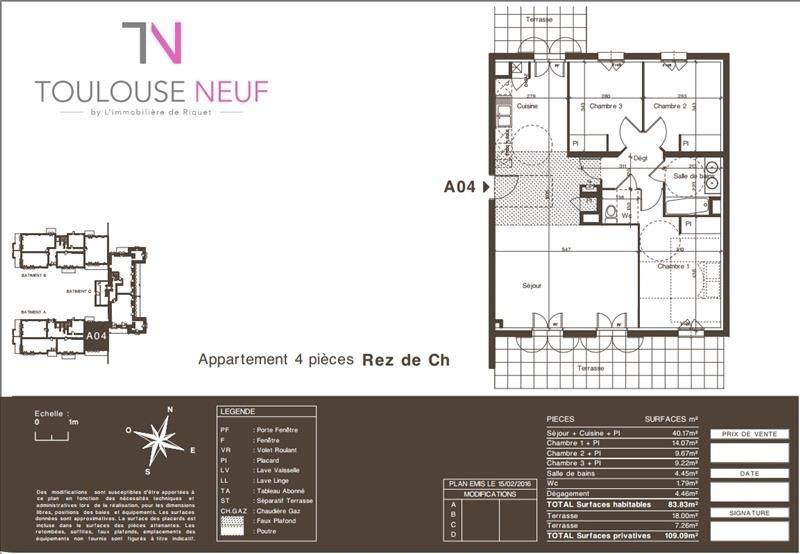 Vente appartement Colomiers 330000€ - Photo 10