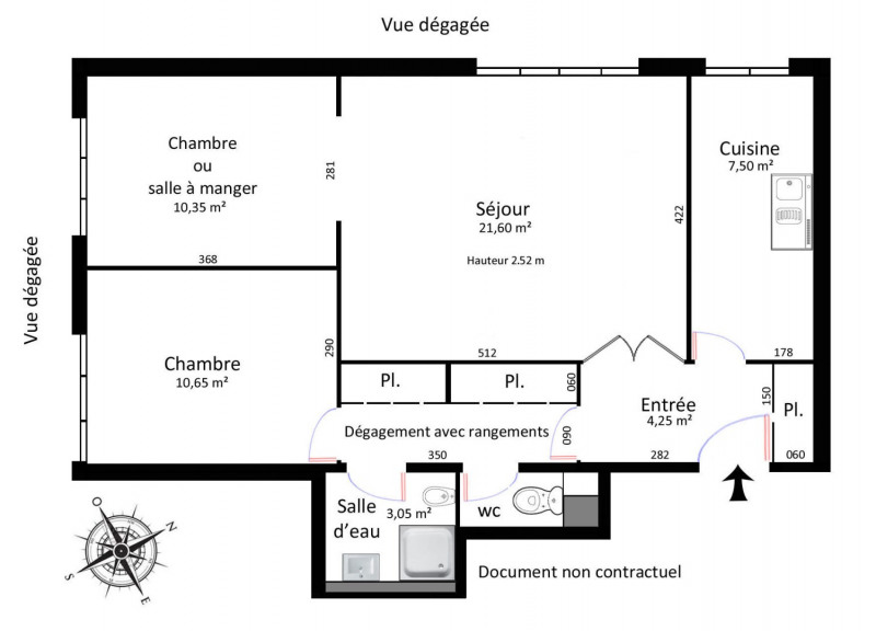 Sale apartment Paris 19ème 499 000€ - Picture 1