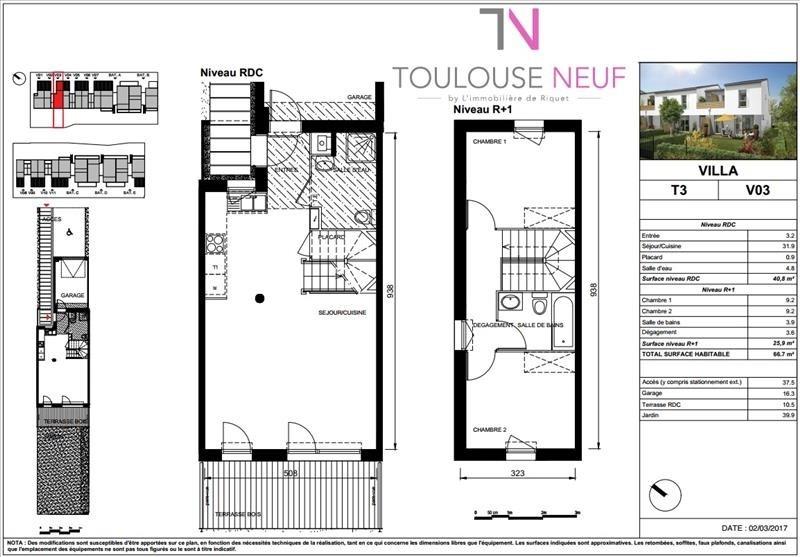 Vente maison / villa Villeneuve tolosane 214300€ - Photo 10
