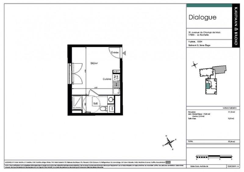 Investment property apartment La rochelle 161440€ - Picture 4