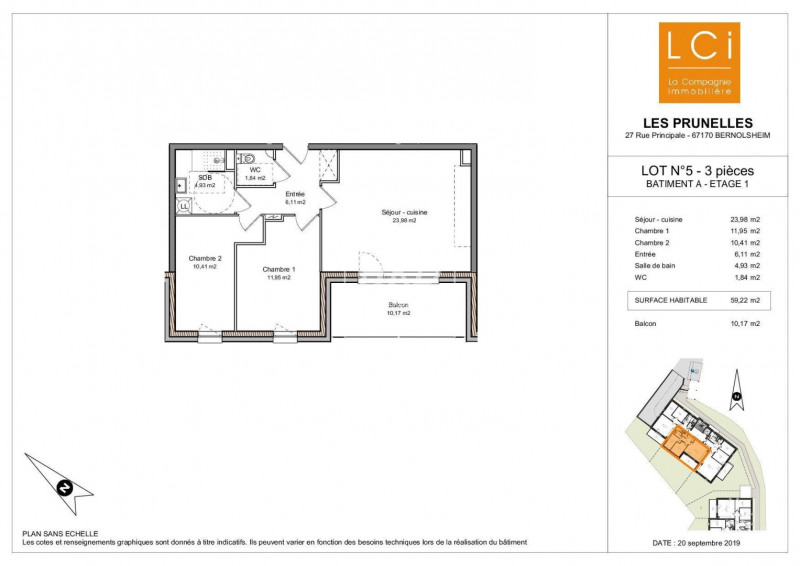 Vente appartement Bernolsheim 229800€ - Photo 2