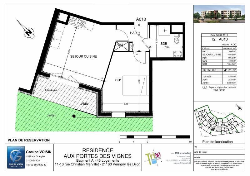 Location appartement Perrigny les dijon 600€ CC - Photo 7