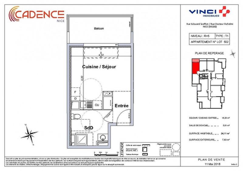Vendita appartamento Nice 158000€ - Fotografia 2