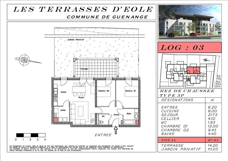 Revenda apartamento Guenange 196640€ - Fotografia 4