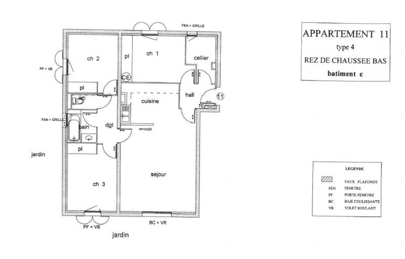 Appartement T4 avec jardin garage et parking privé