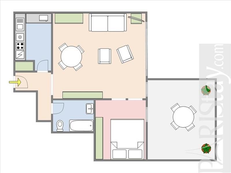 Vente de prestige appartement Paris 17ème 672000€ - Photo 3