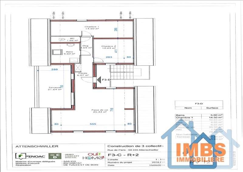Venta  apartamento Attenschwiller 298970€ - Fotografía 6