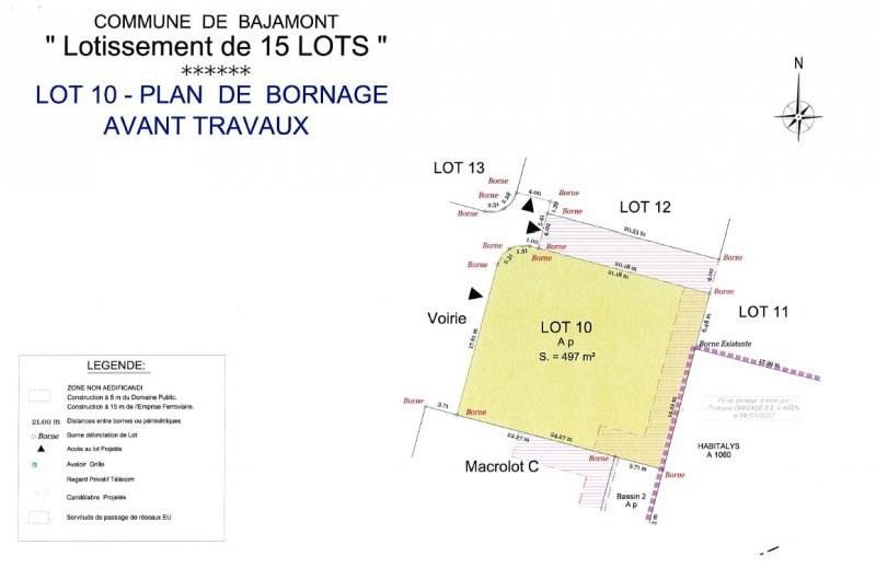 Terrain à bâtir - 497 m²
