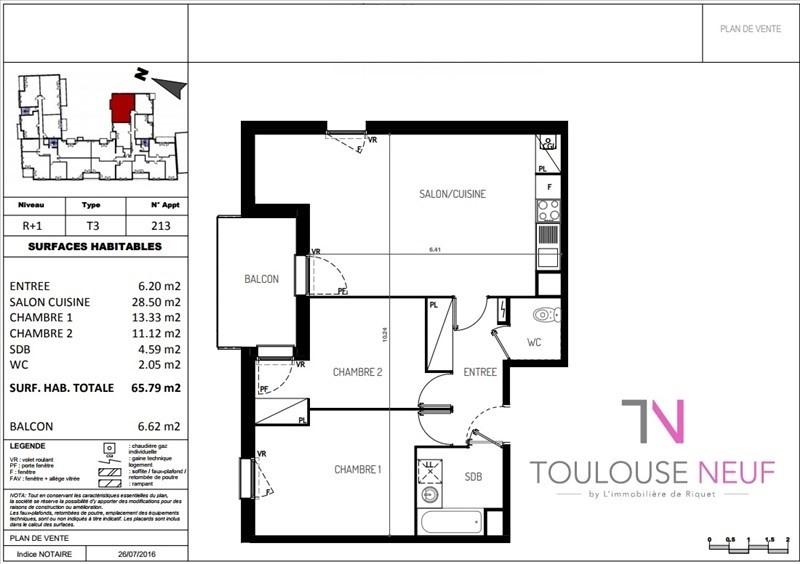 Vente appartement Castanet tolosan 231500€ - Photo 9