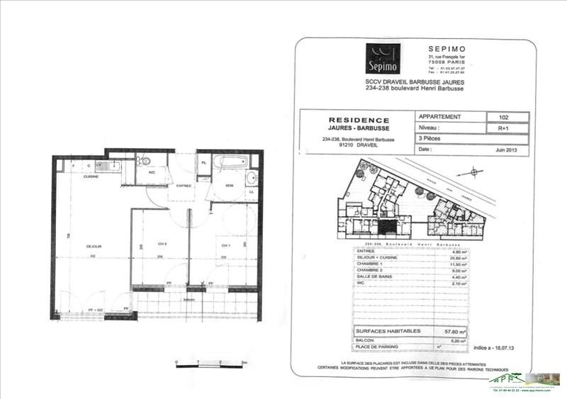 Rental apartment Draveil 985€ CC - Picture 9