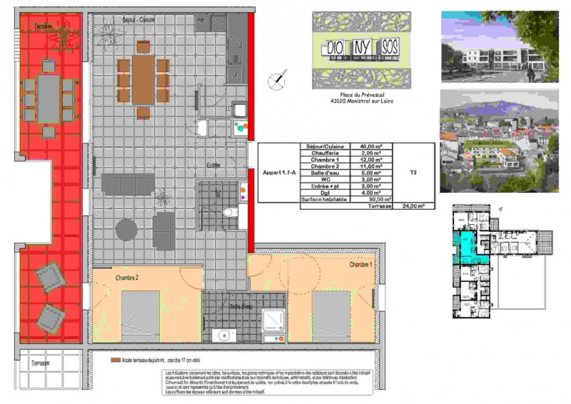 Venta  apartamento Monistrol-sur-loire 219000€ - Fotografía 4