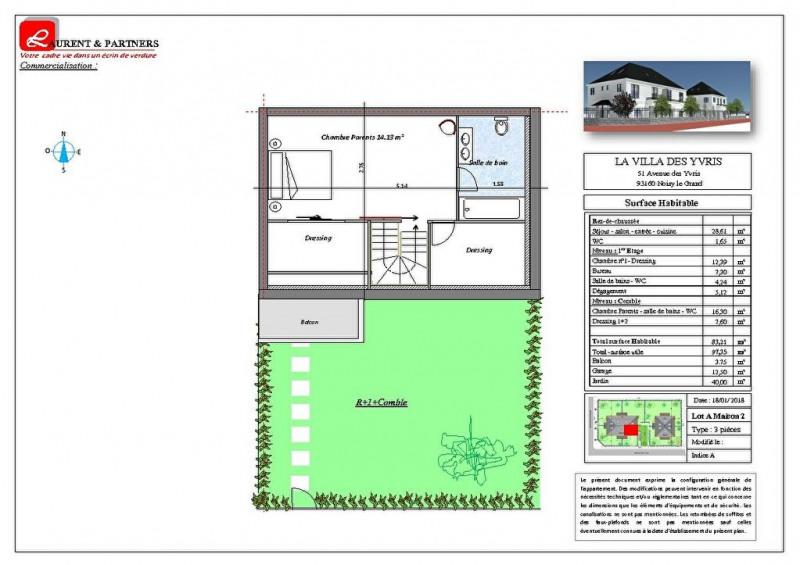 Vente maison / villa Noisy le grand 350000€ - Photo 14