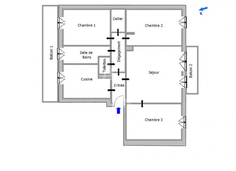 Sale apartment Colomiers 99900€ - Picture 7