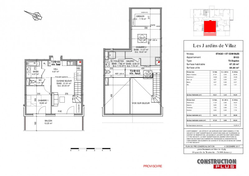 Sale apartment Villaz 302000€ - Picture 9
