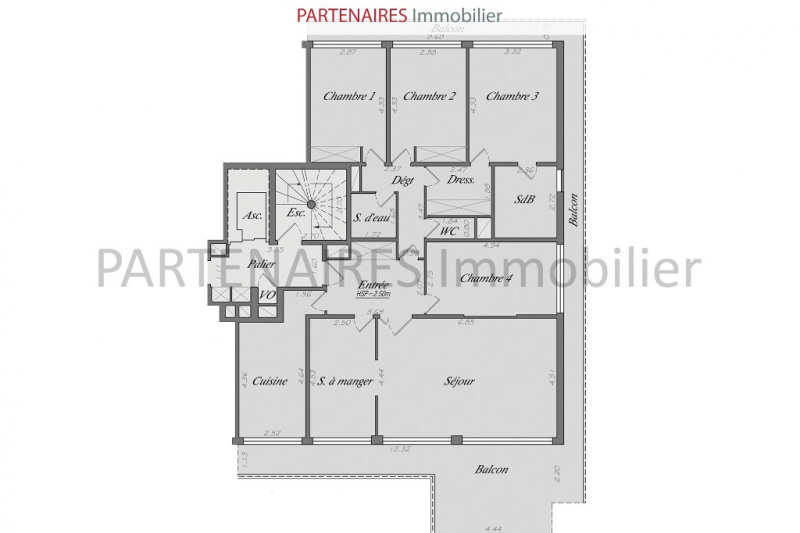Sale apartment Le chesnay 796 000€ - Picture 10