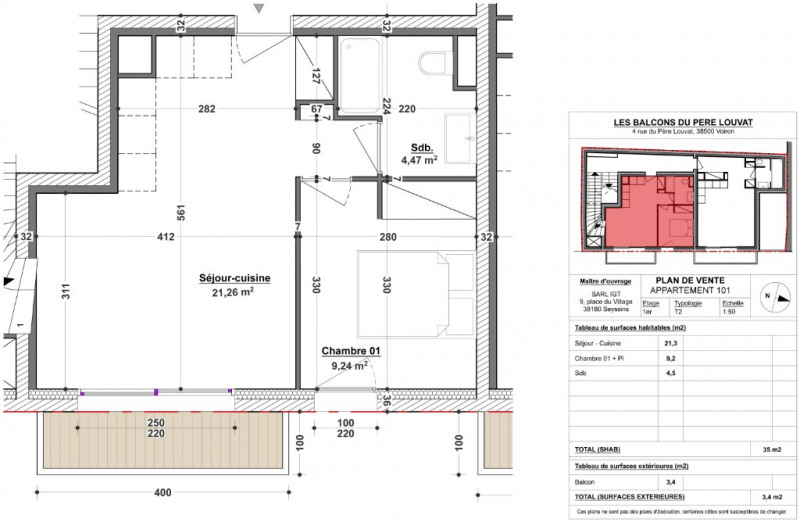 Vente immeuble Voiron 117500€ - Photo 2
