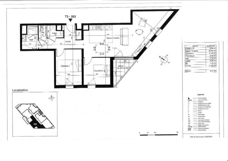 Venta  apartamento Tours 261000€ - Fotografía 5