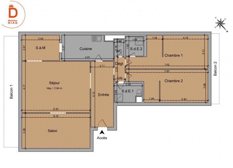 Vente de prestige appartement Paris 16ème 1750000€ - Photo 13