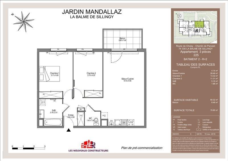 Vente appartement Balme de sillingy 251000€ - Photo 1