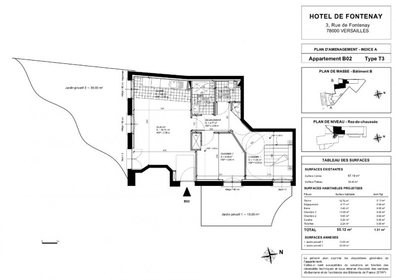 Vente de prestige appartement Versailles 813360€ - Photo 2
